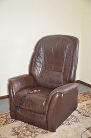 Fernseh Sessel elektrisch verstellbar Leder