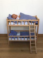 Puppenbett aus Holz,