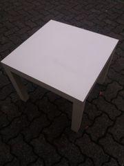 Leichter kleiner Tisch Beistelltisch weiss