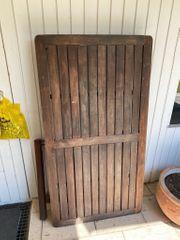 Schöner brauner Gartentisch 80x150x75 grillen