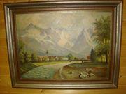 120 Ölbild Bild Bach Berg