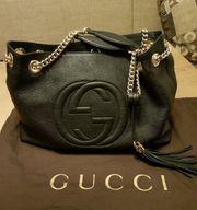Gucci Handtasche Soho schwarzem Leder