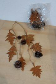 Blätter u Tannenzapfen Hänger 4