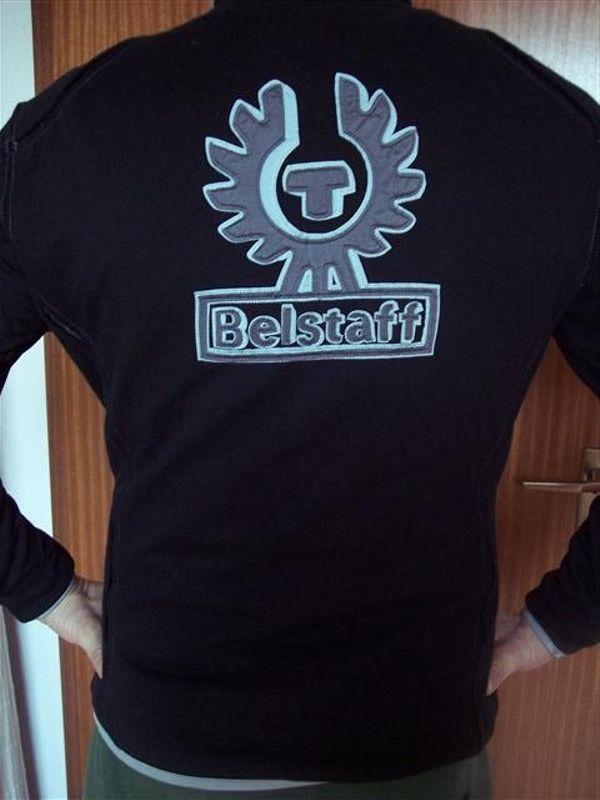 3956a3b6bba1 Herren Belstaff Hoodie Cardigan Logo - Black Sweater Jacke in ...