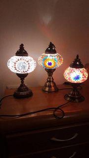 Orientalische Tischlampe m Mosaiksteinen