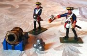 2 neuw Zinnsoldaten Kanoniere Preußen