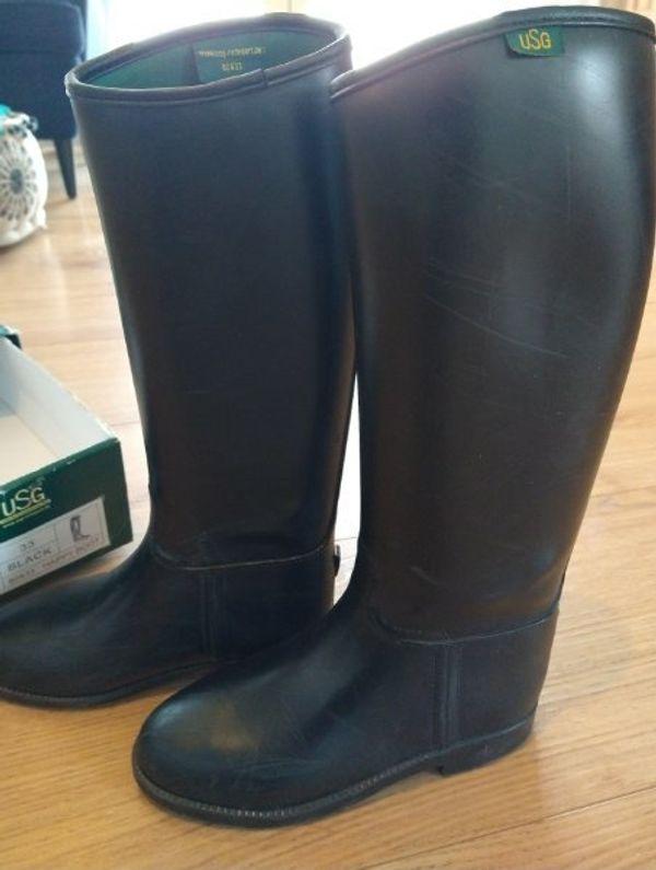 USG Reitstiefel, schwarz, Gr. 33, Happy Boot