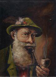 Öl Gemälde der Pfeifenraucher