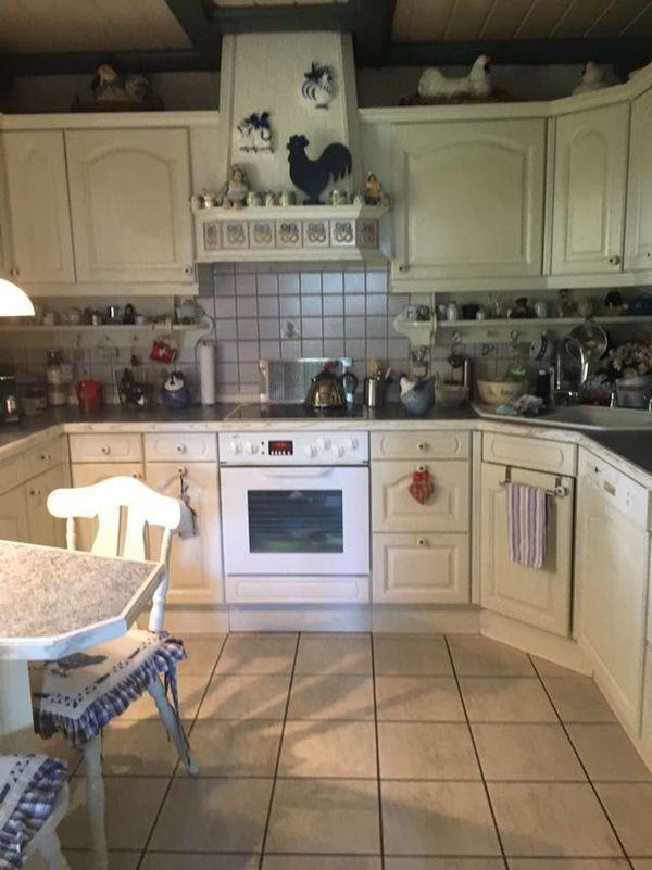 Do-Nette!! große Vollholz Landhausküche Landhausstil Küche weiß U ...