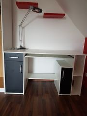 Schreibtisch weiß/schwarz