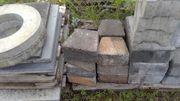 Abverkauf Trapezstein aus Betonstein Mauerstein
