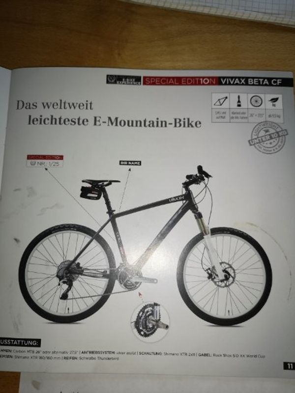 Mountainbike mit Vivax assist E-Antrieb