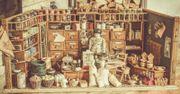 Wunderschöner antiker Kaufmannsladen