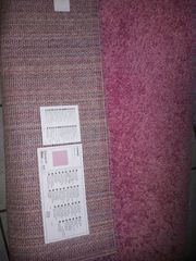 Ikea Hampen Teppich rosa Hochflor