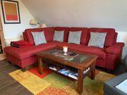 Weinrote Rote Couch Sofa neuwertig