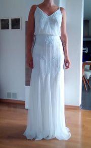 schönes Standesamtkleid Weiß