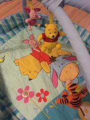 Spieldecke Krabbeldecke mit Spielbogen Winnie