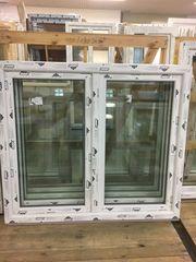 Kunststofffenster 150x130 cm weiß 2flg
