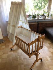 Komplette Babywiege Wiege mit Matratze
