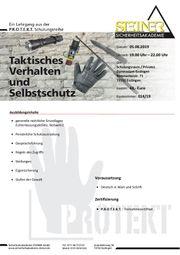 Sicherheitsseminar Taktisches Verhalten und Selbstschutz