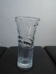Glas Blumenvase 25 cm hoch