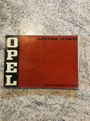 Betriebsanleitung Opel ASCONA 12 16