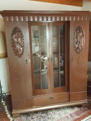 Schrank antik - Eiche - Jagdmotive