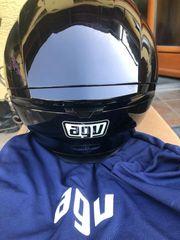 AGV Motorrad Helm Vollhelm schwarz