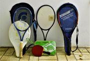 Tennis und Tischtennisschläger