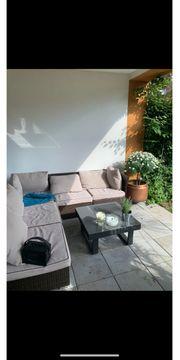 Rattan Couch Garten