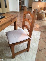6 Stück Esszimmerstühle aus Massivholz