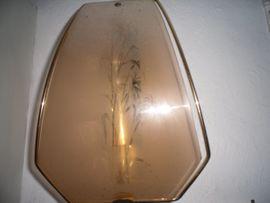 Lampe Glas/ Messing
