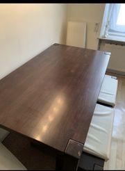 160x90 cm Massivholztisch mit 2