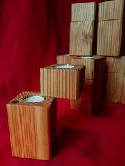 Holz Teelichter ständer