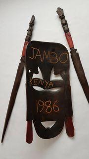 Afrikanische Maske Holz Holzmaske Tanzmaske