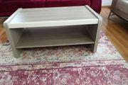 Couchtisch Holzoptik mit Beige Details