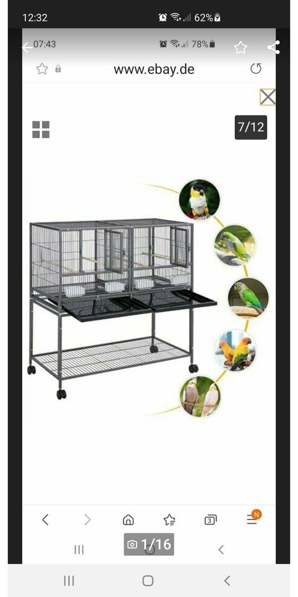 Papageien Wellensittiche Vogelkäfig neu