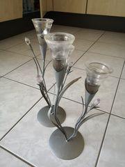 Kerzenständer in Blumenform 2 Stück