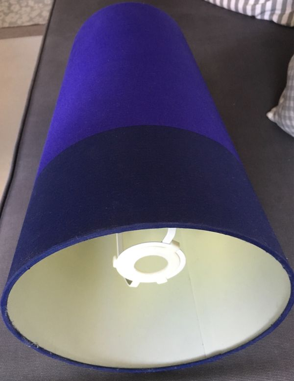 Ikea Lampenschirm Lila Dunkelblau Stoff In Heidelberg Kaufen Und