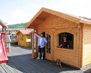 Gartenhaus Blockbohlenhaus 45 mm Wandstärke