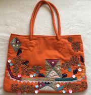 Zuiki Canvas Handtasche orange wie