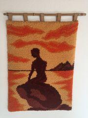Wunderschöner, handgeknüpfter Wandteppich -