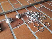 Gardinen- Vorhangstange edelstahl Metall kompl