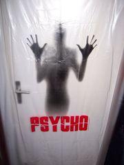 witziger Duschvorhang Psycho Motiv - Maße