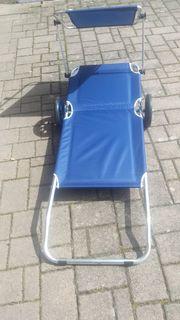 2 Stück Rollbare Liegestühle mit