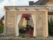 Holzpavillon Gartenlaube 350x350 NEU 3