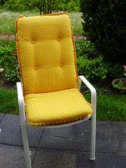 4 Sitzpolster für Gartenstühle Hochlehner