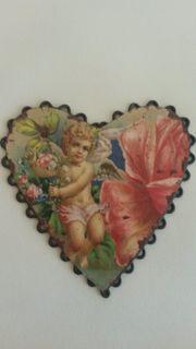 Deko Herz mit Engel und