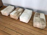 4 x Sitzkissen aus Rinderfell