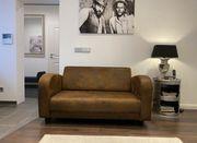 Sofa Wildlederoptik Shabbystyle 2 Sitzer